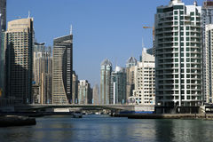 Modern skyscrapers, Dubai Marina, Dubai, United Arab Emirates Stock Photography