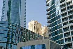 Modern skyscrapers, Dubai Marina, Dubai, United Arab Emirates Royalty Free Stock Photos