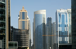 Modern skyscrapers, Dubai Marina, Dubai, United Arab Emirates Royalty Free Stock Photo