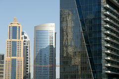 Modern skyscrapers, Dubai Marina, Dubai, United Arab Emirates Royalty Free Stock Photography
