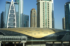 Modern skyscrapers, Dubai Marina, Dubai, United Arab Emirates Royalty Free Stock Photos