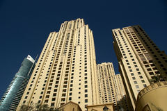 Modern skyscrapers, Dubai Marina, Dubai, United Arab Emirates Stock Images