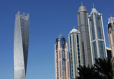 Modern skyscrapers in Dubai Marina Royalty Free Stock Photography