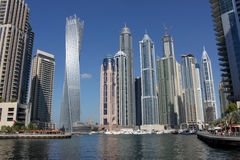 Modern skyscrapers of Dubai Marina Stock Photos