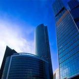 Modern skyscrapers at evening Stock Photos