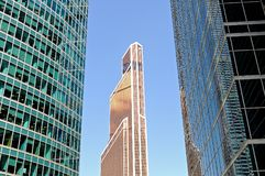 Modern skyscrapers, high-rise buildings Stock Photos