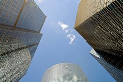 High-rise buildings. Bottom view. Stock Photo
