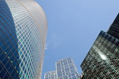 High-rise buildings. Bottom view. Stock Image