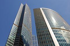 High-rise buildings. Bottom view. Stock Images