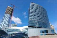 Modern skyscrapers in Marszalkowska. Warsaw. Poland Stock Photos