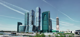 Modern skyscrapers in Moscow Stock Photo