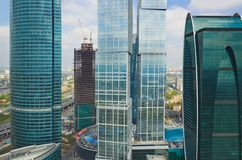Modern skyscrapers at Moscow City, Russia Stock Photo