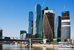 Modern skyscrapers Moscow City Stock Photo