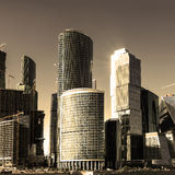 Modern skyscrapers in Moscow Royalty Free Stock Photo