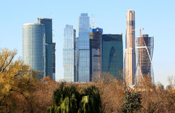 Modern skyscrapers in Moscow Stock Image