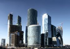 Modern skyscrapers in Moscow Royalty Free Stock Image