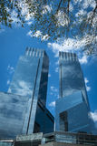 Modern skyscrapers in New York City Stock Photos