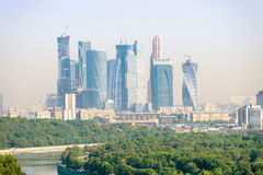 Modern skyscrapers office buildings. In Moscow City Stock Image