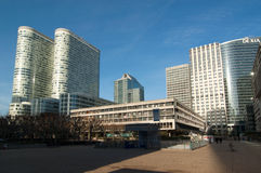 Modern skyscrapers in Paris, France. Modern architecture in La Defense Business district, Paris Stock Photo