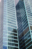 Modern Skyscrapers, Reflections in Glass Facade Royalty Free Stock Photo