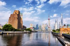 Modern skyscrapers in Shanghai china royalty free stock images