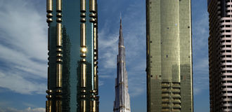 Free Modern Skyscrapers, Sheikh Zayed Road, Dubai, Uae Stock Photo - 30777480