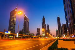 Modern skyscrapers, Sheikh zayed road Royalty Free Stock Photos
