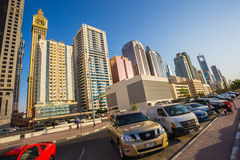 Modern skyscrapers, Sheikh zayed road Stock Images
