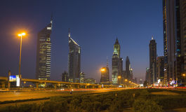 Modern skyscrapers, Sheikh zayed road Stock Photography