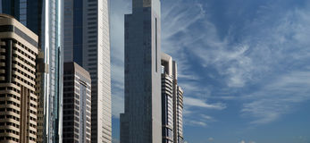 Modern skyscrapers, Sheikh zayed road, Dubai, uae Stock Photo