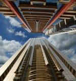 Modern skyscrapers, Sheikh zayed road, Dubai, UAE Stock Photos