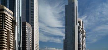 Modern skyscrapers, Sheikh zayed road, Dubai, UAE Royalty Free Stock Photos