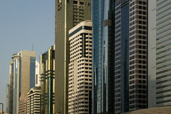 Modern skyscrapers, Sheikh zayed road, Dubai, UAE Royalty Free Stock Photography