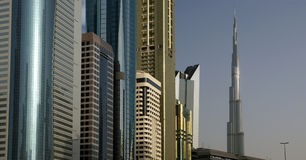 Modern skyscrapers, Sheikh zayed road, Dubai Stock Images