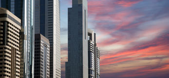 Modern skyscrapers, Sheikh zayed road, Dubai Royalty Free Stock Photo
