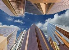 Modern skyscrapers, Sheikh zayed road, Dubai Royalty Free Stock Photos