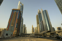 Modern skyscrapers, Sheikh zayed road, Dubai Royalty Free Stock Image