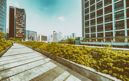 Modern skyscrapers of Shinbashi on a sunny day - Tokyo, Japan.  stock photography