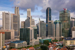 Modern skyscrapers - Singapore Royalty Free Stock Photo