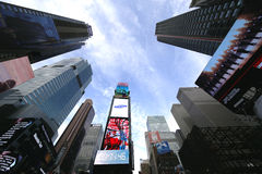 Modern skyscrapers at Times Square in Manhattan Stock Photos