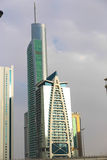 Modern skyscrapers. View of modern skyscrapers in business district Stock Photo