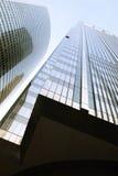 modern skyskrapa Övre sikt för botten chicago Windy City Royaltyfria Foton