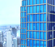Modern skyskrapa som göras av exponeringsglas, stock illustrationer