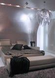 Modern slaapkamer binnenlands ontwerp. Royalty-vrije Stock Foto
