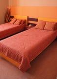 Modern slaapkamer binnenlands ontwerp. Stock Foto's