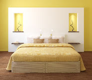 Modern slaapkamerbinnenland. royalty-vrije illustratie