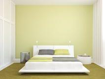 Modern slaapkamerbinnenland. Stock Afbeeldingen