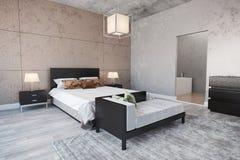 Modern slaapkamerbinnenland Royalty-vrije Stock Fotografie