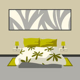 Modern slaapkamerbinnenland Royalty-vrije Stock Foto's