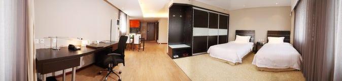 Modern slaapkamerbinnenland Stock Foto